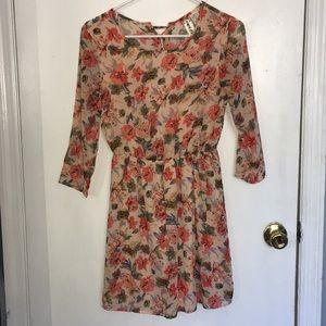 Cute floral mid sleeve dress
